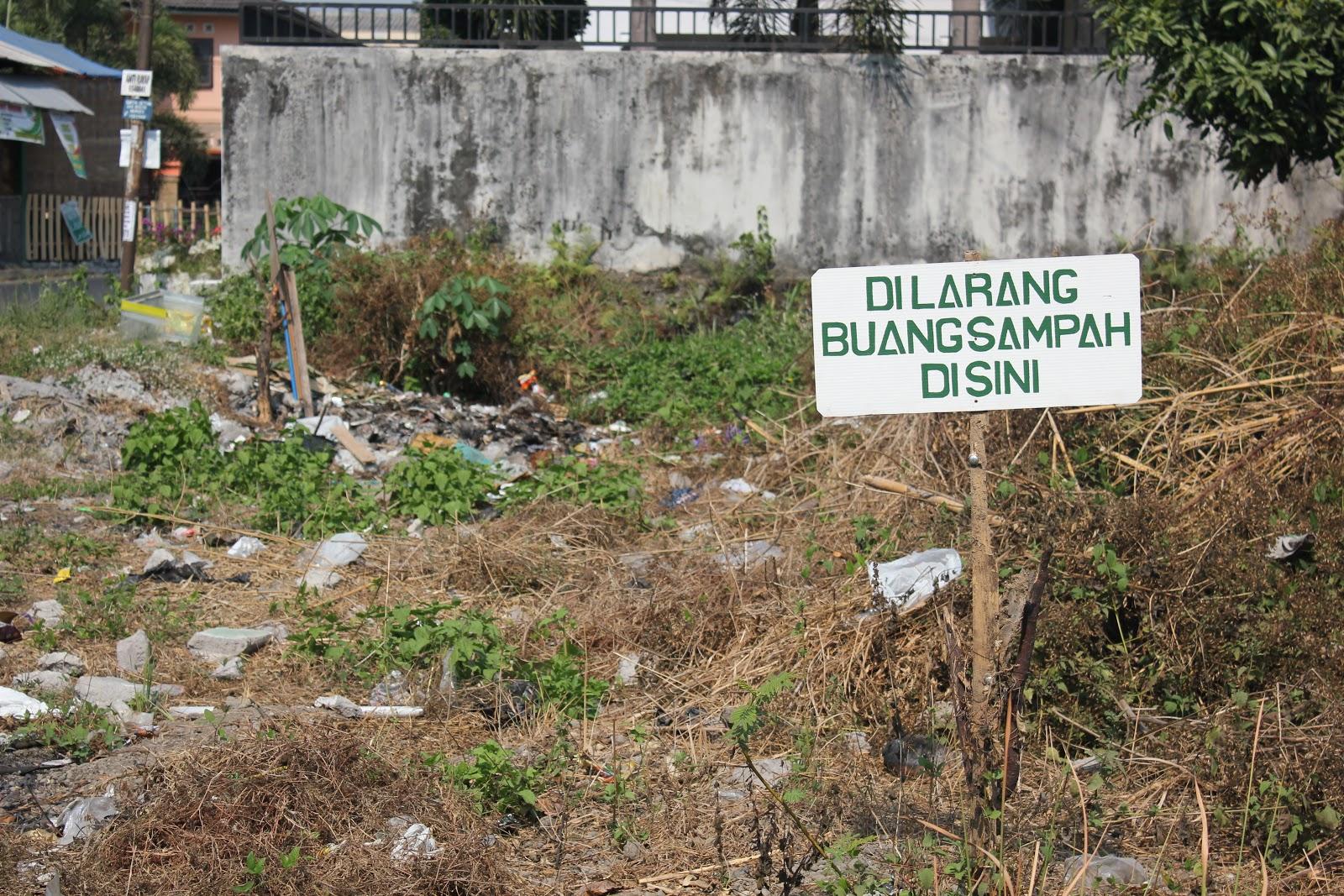 Dilarang membuat sampah sembarangan