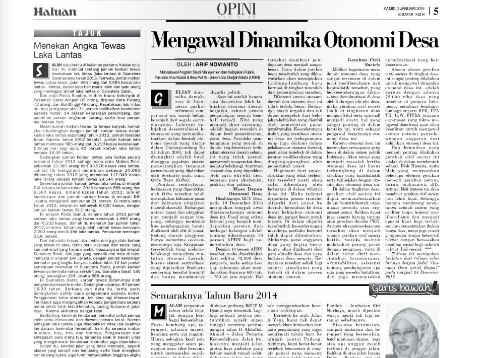 Mengawal dinamika otonomi desa