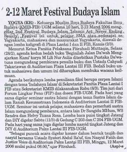 Maret Festival Budaya islam
