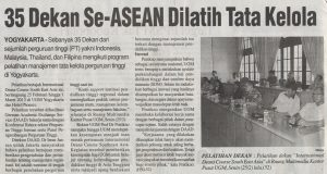 35 Dekan se ASEAN Dilatih Tata Kelola
