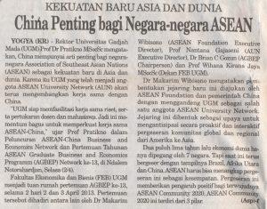 China Penting bagi Negera negera ASEAN