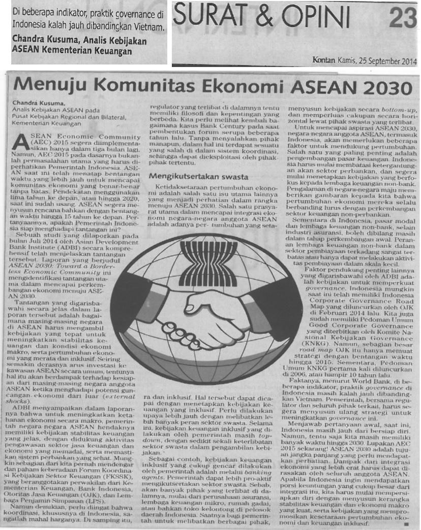 Menuju Komunitas Ekonomi ASEAN 2030
