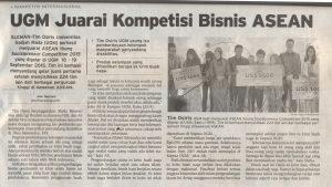 UGM Juarai Kompetisi Bisnis ASEAN