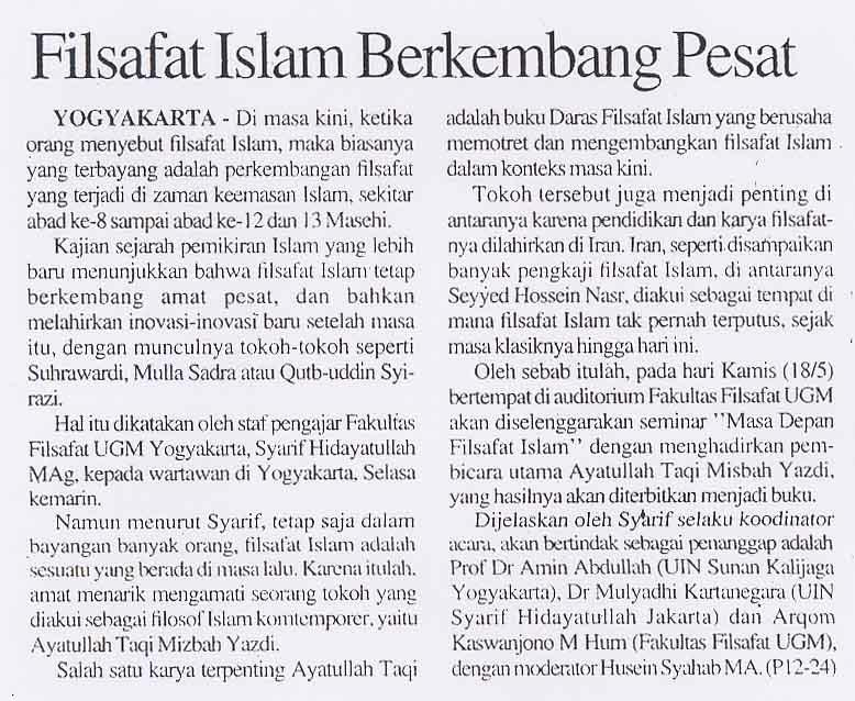 Filsafat islam berkembang pesat