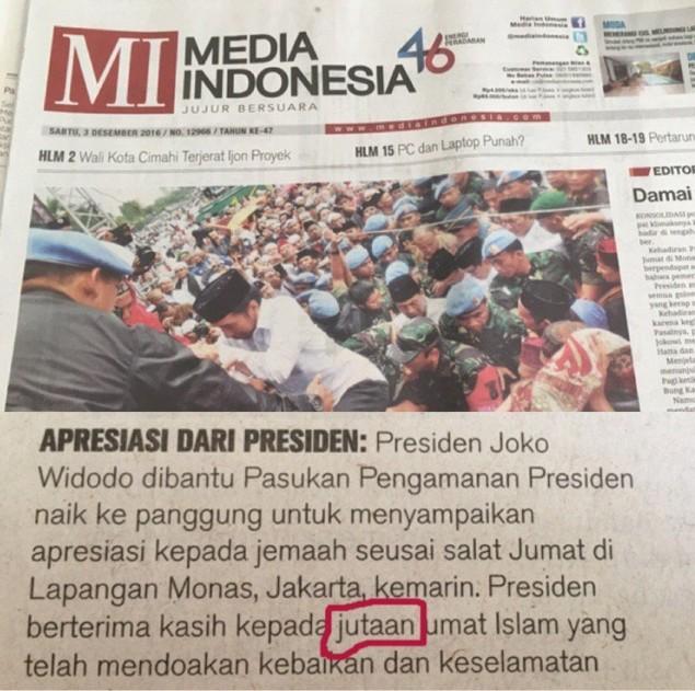 presiden apresiasi umat islam