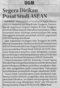 Segera didirikan pusat studi ASEAN